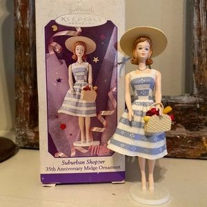 1998 BARBIE COLLECTION HALLMARK ORNAMENT MIDGE